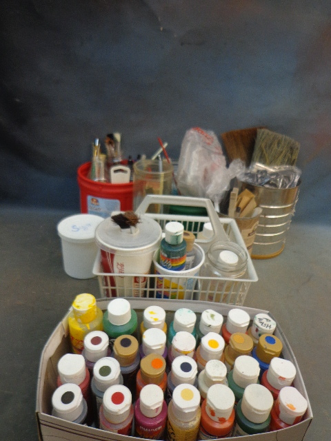 Acrylic painting supplies antiques tools shelving and for Acrylic mural paint supplies