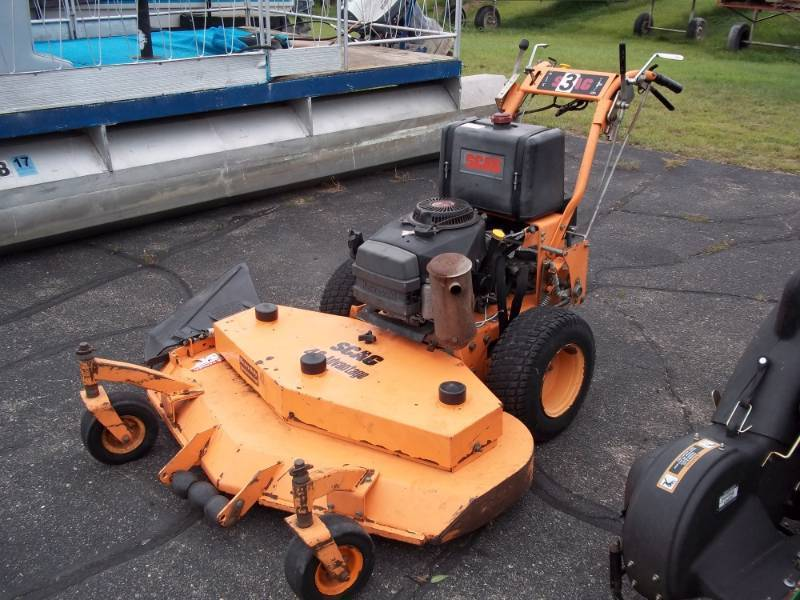 Scag Walk behind commercial mower | Advanced Sales Fall Leaf