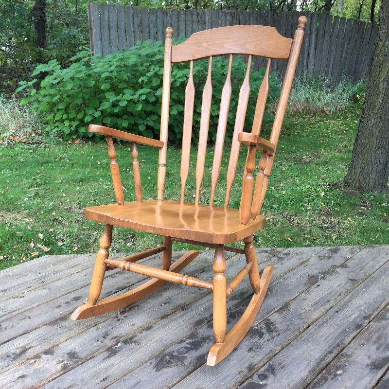 lion head rocking chair with arms jireh trading company community benefit auction 4 in osseo