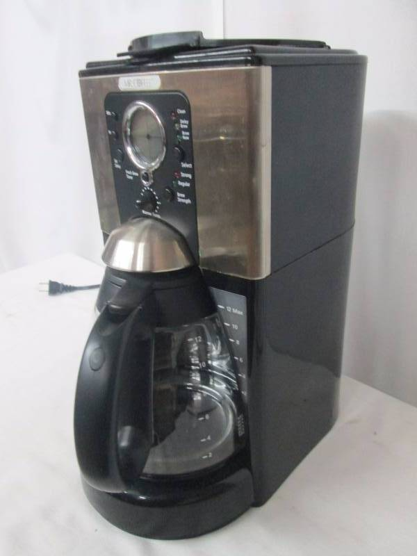 Mr Coffee Coffee Maker Not Working : Mr. Coffee 12-Cup Coffee Maker October Store Returns and Consignments #3 K-BID