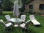 7 piece deck /patio / outdoor furniture - table and chairs  still in very good shape!