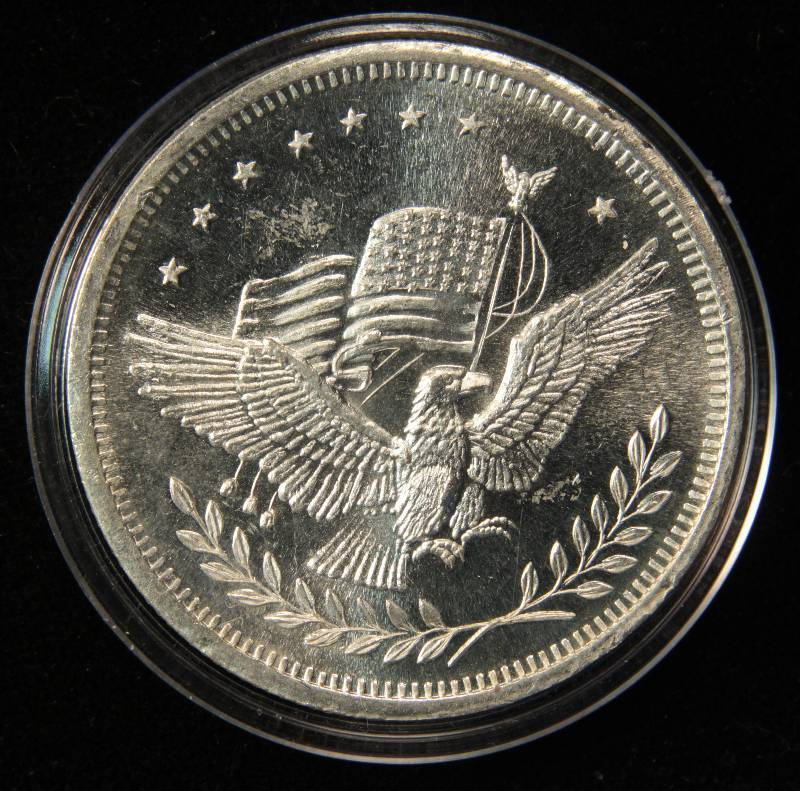 Rare Apm Silver Eagle Flag Trade Unit 1 Troy Oz 999 Fine