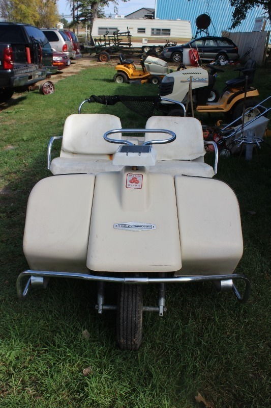 AMF Harley Davidson 3 Wheel Golf Cart | Vintage Snowmobiles ...