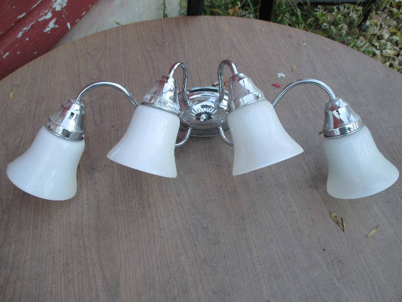 Vanity Lights Not Hardwired : 4 light hard wired vanity light... Cement Mixer, Tools, Equipment, Bikes, Lighting, More! K-BID