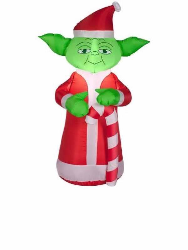 35 inflatable yoda star wars with candy cane christmas outdoor yard art christmas holiday decorations lights auction 47 k bid