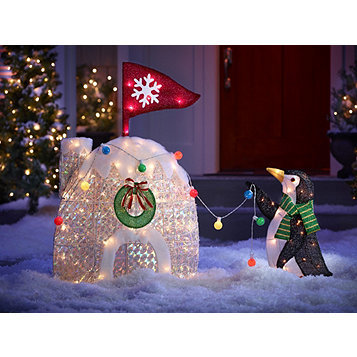 alcove Lighted Penguin Igloo | Christmas Holiday Decorations & Lights  Auction #47 | K-BID - Alcove Lighted Penguin Igloo Christmas Holiday Decorations