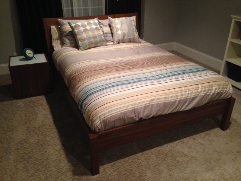 Ikea queen size bed matching night stand new used to - Used queen bedroom sets for sale ...