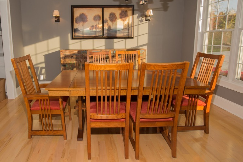 mission style dining room set b j moving sale k bid